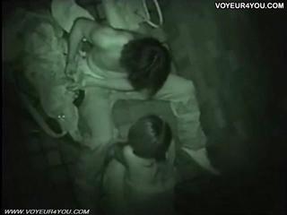 На открытом воздухе Секс вуайерист Снятый